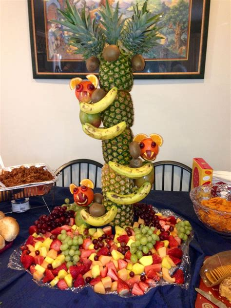Fruit Centerpieces For Baby Shower by My Husband S Pineapple Tree Baby Shower Idea