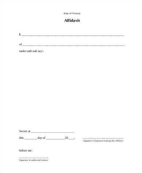blank affidavit form sles 19 free documents in word pdf