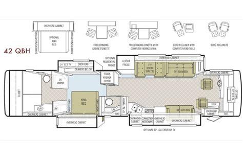 phaeton qbh floor plan 2009 tiffin phaeton 42qbh photos details brochure