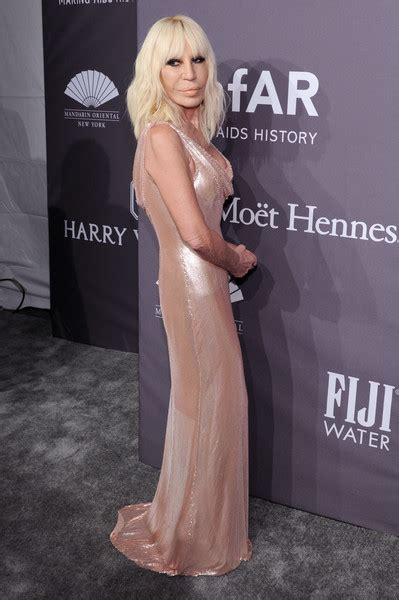 Donatella Versace Out And About In Ny by Donatella Versace Photos Photos The Amfar New York Gala