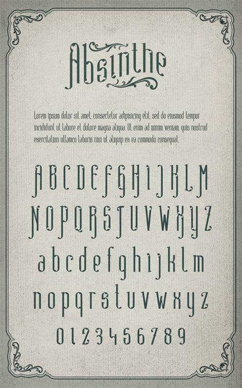 juliusdesign font font inspirations absinthe juliusdesign