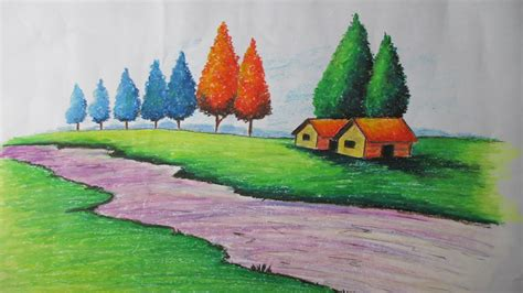Landscape Pictures To Draw And Paint How To Draw A Landscape With Pastel Episode