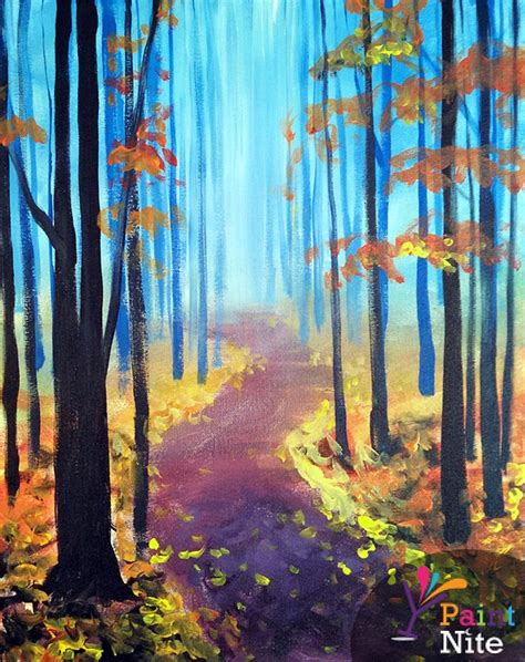paint nite island events paint nite a walk in the fall
