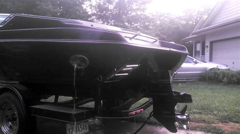 side boat exhaust 196br crownline with corsa side exhaust youtube