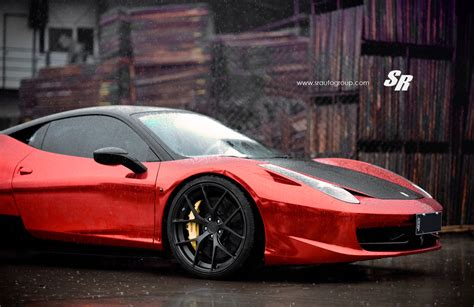 Red Chrome Ferrari 458 Italia On Pur Wheels Autoevolution