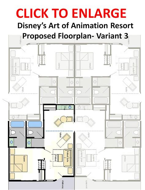 art of animation family suite floor plan what s new at disney world in 2011 yourfirstvisit net