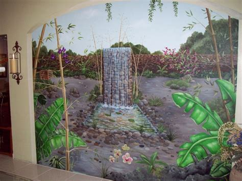 painted wall mural trompe l oeil cusom painted murals and finishes