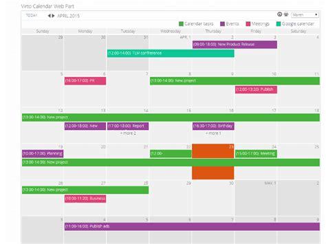 Calendar Sharepoint Virto Sharepoint Calendar For Ms Exchange