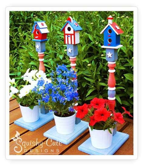 4th of july backyard decorations easy patriotic birdhouse crafts 4th of july outdoor