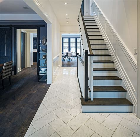 foyer tile herringbone floor contemporary entrance foyer
