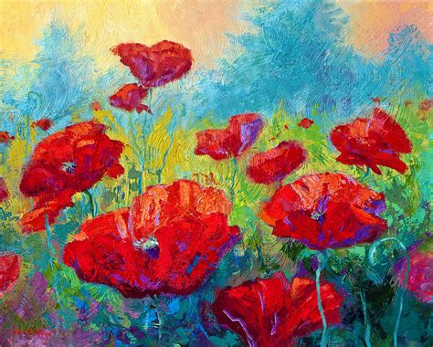 painting for juniors field of poppies painting by marion