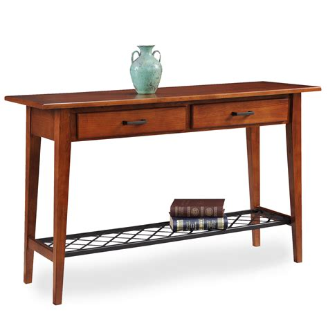 oak sofa table with drawers leick westwood oak two drawer sofa table