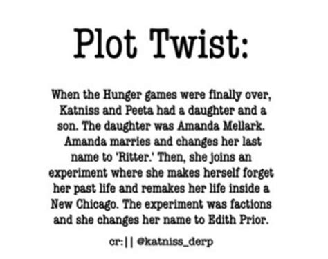 the hunger plot twist by for my thought on 70 best images about hunger divergent plot twist