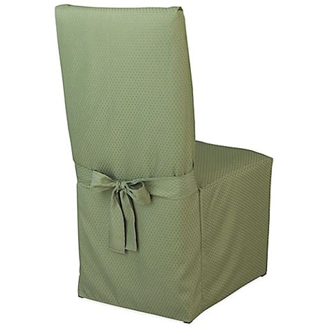 Green Dining Chair Covers Buy Mckenna Microfiber Dining Room Chair Cover In Green From Bed Bath Beyond
