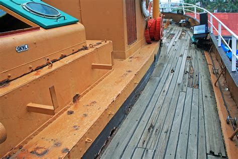 tugboat deck deck of retired tugboat free stock photo public domain