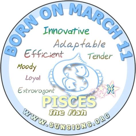 pisces march 11 birthday horoscope personality traits