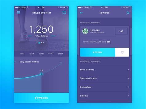 design home app start over ui design in health fitness apps inspiration supply