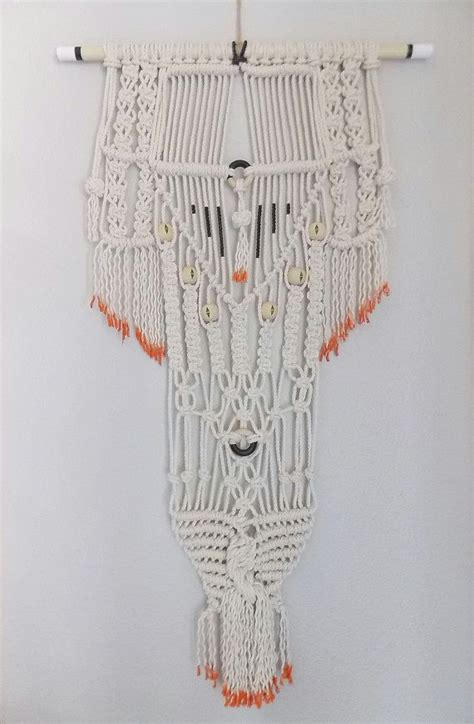 Modern Macrame - modern macrame knotted wall hanging quot no 26 quot by himo
