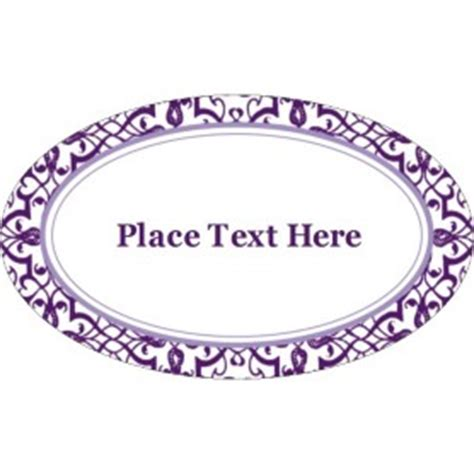 Templates Classic Purple Pattern Oval Labels 18 Per Sheet Avery Oval Label Template 18 Per Sheet