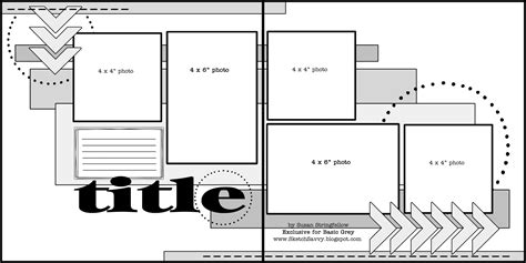 double layout video scrapbooking double page sketches images