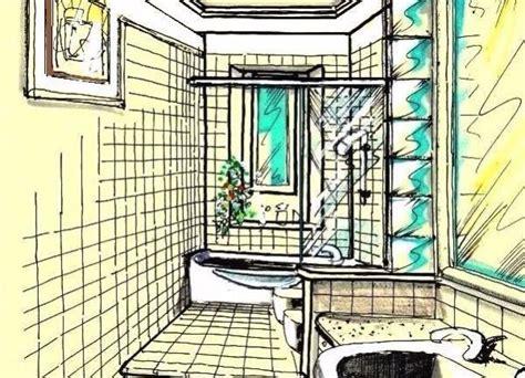 disegno di un bagno bagno stretto e lungo come progettarlo