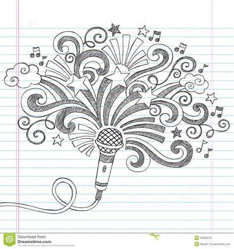 doodle de do song microphone sketchy doodles vector illustrati stock