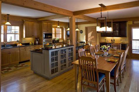 Opening Kitchen To Dining Room Open Concept Kitchen Idea In Design I The Warmth And The Exposed Beams For The