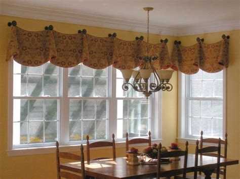 dining room window valances valances for dining room bay window red valance and