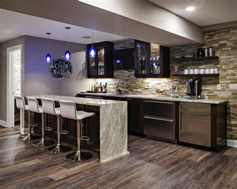 Basement bar cabinet ideas home bar transitional with