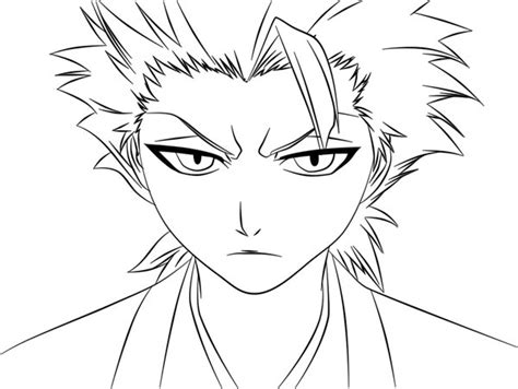 bleach ichigo white coloring pages
