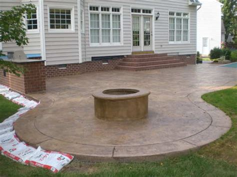 Concrete Patio Pit by Outdoor Patio Designs With Pit Sted Concrete