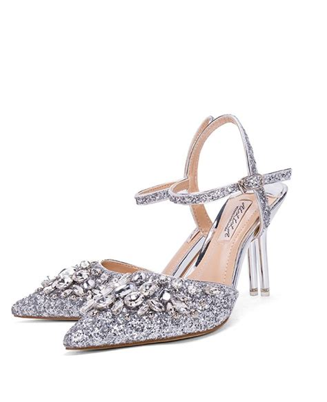 silver sandals for wedding silver strappy sandals wedding shoes with sparkly crystals