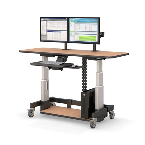 Adjustable Desk For Standing Or Sitting Height Adjustable Sit Stand Desk Afcindustries
