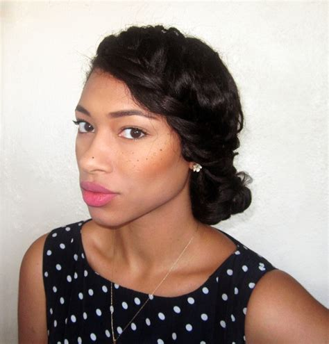 relaxed hair protective styles for high foreheads 41 best images about ethnic hair on pinterest