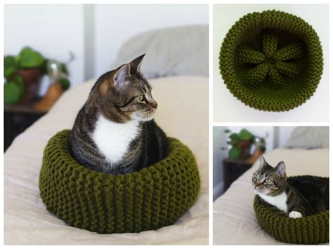 knit cat bed pattern cat bed free knitting pattern