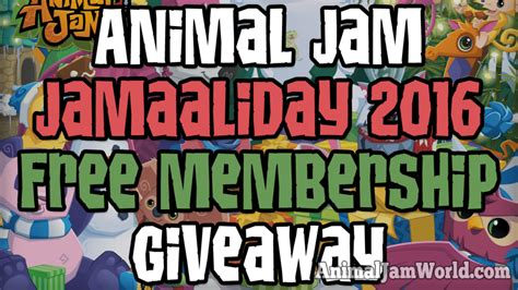 Animal Jam Membership Giveaway 2017 - jamaaliday 2016 free membership giveaway animal jam world