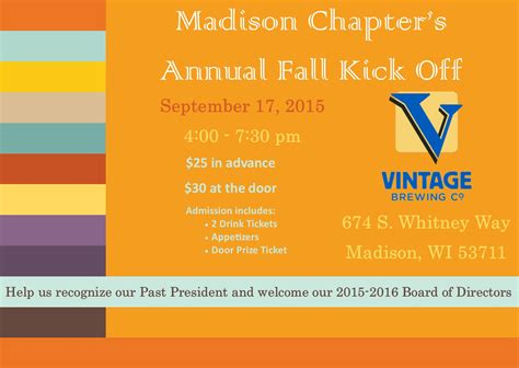 Of Wisconsin Mba Product Management by 2015 Chapter Annual Fall Kick Wmba