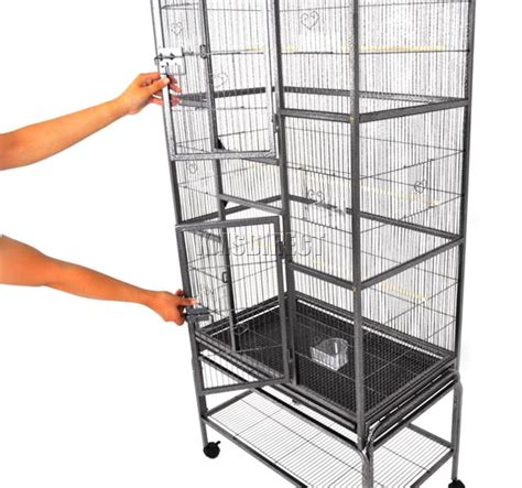 large bird cages foxhunter large metal bird cage with stand aviary parrot budgie canary cockatiel ebay