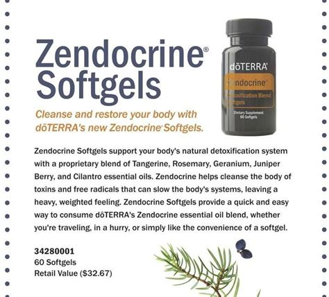 Doterra Zendocrine Detox Supplement by 17 Best Images About Think On