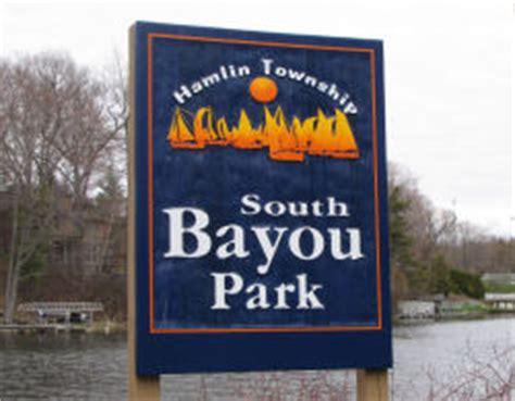 public boat launch hamlin lake south bayou map and guide