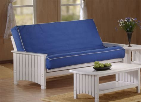 cottage futons cottage full size white futon set by j m furniture