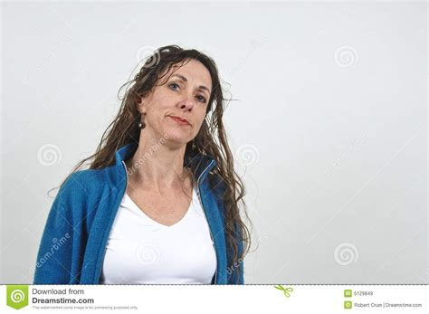 attractive middle aged hair attractive middle aged woman royalty free stock images