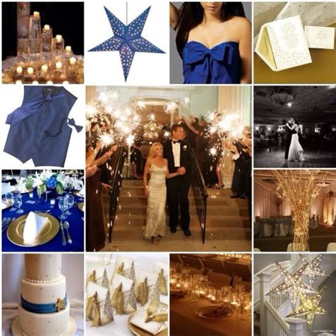 blue gold wedding theme the getting married