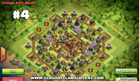 clash of clans th10 hybrid layout 50 th10 undefeated war farming trophy hybrid bases 2017