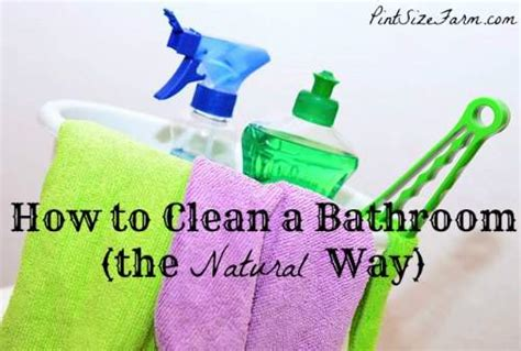 natural ways to clean bathroom how to clean a bathroom the natural way pint size farm