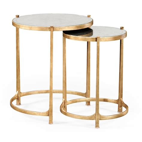 Tables In by Nest Of Mirrored Tables Gold Swanky Interiors