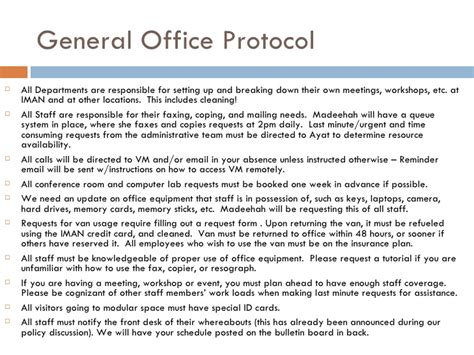 protocol template iman office security protocol