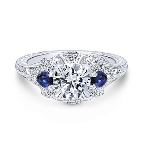 Wedding Rings With Sapphires And Diamonds by Engagement Rings With Sapphires And Diamonds Octagonal