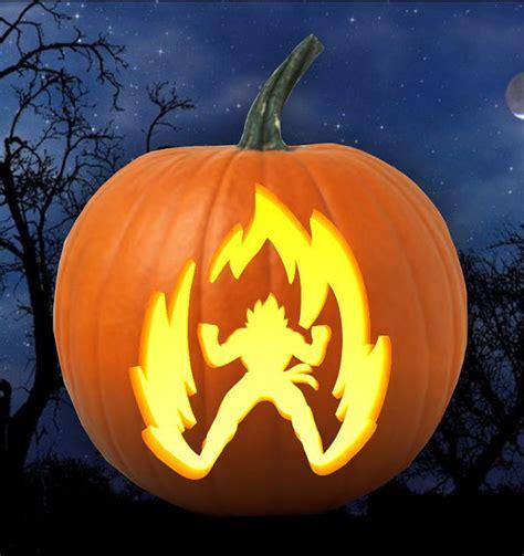 imagenes de dragon ball z halloween dragon ball z goku super saiyan ki pumpkin carving by