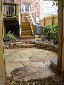 fieldstone patio with wall flickr photo